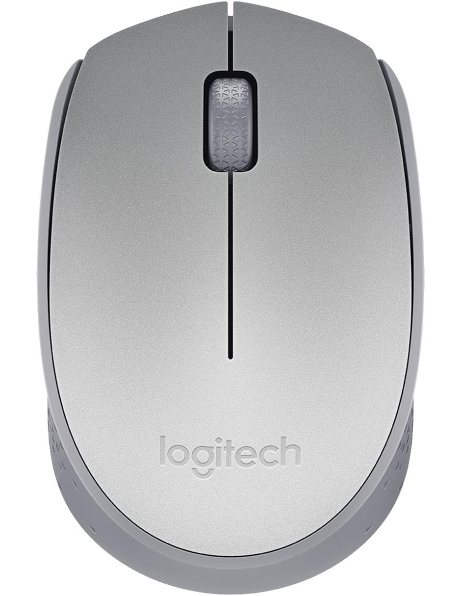 Mouse Inalámbrico Logitech M170 color plata